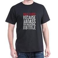 Wholesale male jobs - 2017 new arrival Male Nurse Badass Job Title T-Shirt - Dark T-Shirt 100% cotton O-Neck T Shirt Casual short print tops tee