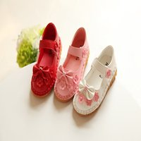 Shop hot pink flower girl shoes uk hot pink flower girl shoes free hot sale summer girl shoes kids sandals princess shoes flat leacther children shoes bow flower shoes soft shoes us 3 11 size mightylinksfo