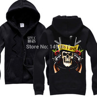 Wholesale-Guns N Roses GNR 100% Baumwolle Rock-Band Hoodie Winterjacke Marke Sweatshirt Punk Hard Rock Heavy Metal Coat Sudadera Truien XXXL