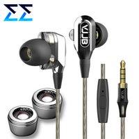 Wholesale New Drivers Speakers - Wholesale-New 4 Speakers Dual Driver Hifi Subwoofer Monitor Earphones Deep Bass Metal In Ear Earphone Earbuds VJJB V1 V1S Earbuds