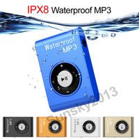 Waterproof Swimming Surfing Clip MP3 Player 8GB / 4GB Esportes MP3 Music Player Walkman Stereo Headset Subaquática Fone de ouvido FM Radio