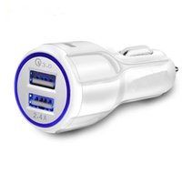 Wholesale bagged cars online - 9V A V A QC3 fast car charge A Dual USB Fast Car Charging for Samsung Galaxy S8 Iphone with Opp Bag