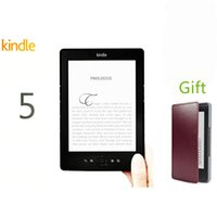 Wholesale Ebook Reader Free Shipping - Wholesale-Kindle 5 ebook Reader 6inch e-ink Screen 2GB Kindle Paperwhite,ereader,Electronic Books,Superb Pocket Book Reader free Shipping