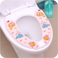 Wholesale Toilet Seats Covers Soft - Cuttable Sticky Toilet Seat Cover for Bathroom Products Soft Velet Comfortable Toilet Mat Repeated Washing Toilet Cover