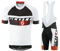Wholesale Scott Cycling Bib Sets - SCOTT Pro team men's Cycling Jersey set Cycling clothing Breathable Mountain Bike Clothes Quick Dry Bicycle Sportswear Cycling Set bib GE