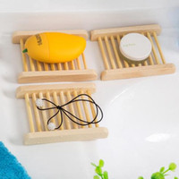 Wholesale Wooden Bamboo Plates - Natural Bamboo Wooden Soap Dish Wooden Soap Tray Holder Storage Soap Rack Plate Box Container for Bath Shower Bathroom