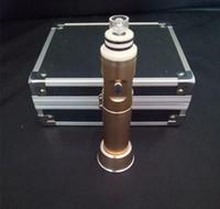 Wholesale Electronic Cigarette Herb Chamber - Electronic cigarette G9 vaporizer kit Dry Herb Wax herbal vaporizer glass bong 2500mah 18650 Titanium chamber dabber Coil