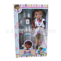 Wholesale Doll Boxes For Shipping - doll free shipping 27cm doc mcstuffins doll doctor toy set for girl gift original box package doctor accessories