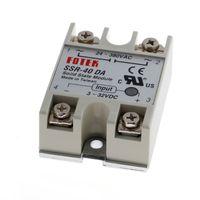 Wholesale Dc Ssr - 24V-380V 40A 250V SSR-40 DA Solid State Relay Module 3-32V DC To AC New