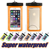 Barato Usado Embalagem-Saco seco Universal Waterproof Case High Clear Camera Use Soild para Iphone 7 6S Plus Samsung Galaxy S7 Edge S8 Plus Pacote OPP