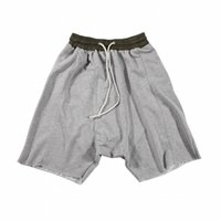 Wholesale Harem Tapered Sweat - Wholesale-2016 New man Shorts Drop Crotch Pant Baggy Harem Sweat Short Pants Tapered Sweatpants Hip Hop men Summer Style