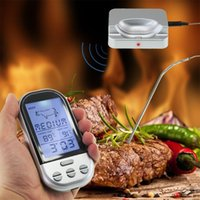 Wholesale Digital Wireless Thermometer Kitchen - Wireless Remote Digital Food Meat Oven Thermometer With Probe,Temperature Alarm for BBQ,Grilling,Roasting,Kitchen Cooking