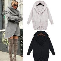 Wholesale Warm Longer Jackets - Wholesale- New Fashion Women's Warm Long Sleeve Hooded Wool Coat Outwear Long Jacket