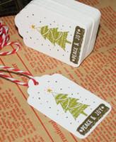 ingrosso ornamento appesa stringa-Etichette di carta con cordino Etichetta di artigianato fai da te Bomboniere Decorazione natalizia Ornamenti appesi