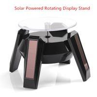 mesa de suporte do telefone venda por atacado-Solar Powered Rotating Display Stand Turn Table Turntable plataforma para relógios de pulso de jóias celular diplay câmera