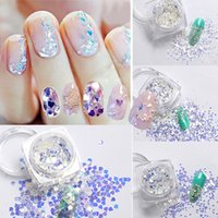 1 коробка Nail Art Paillette Sequins DIY Manicure Blue Glitter Tips Nail Art Tips Design Tool Decoration