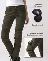Wholesale women stylish jeans - Women's motorcycle pants uglyBROS 06 Motorpool stylish riding jeans racing Protective pants of locomotive Black Stain over Olive green