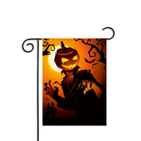 Kürbis Halloween-Flaggen Banner Dekorative hängende Wohnkultur Ornament Garten Party Indoor Polyester Flagge Halloween Dekorationen Prop