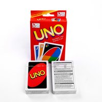 Wholesale Fun Entertainment - UNO Card Game Playing Cards Game For Family Friend Travel Instruction Fun Toy Entertainment Board Game OOA2920