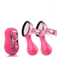 Wholesale Adult Vibrator Pump - BAILE Sex Products For Women Breast Pump Vibrating Nipple Vibrator With Sucker Adult Novelty Erotic Sex Toys