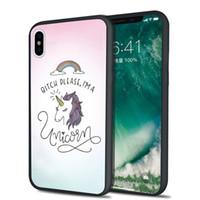 Wholesale rainbow silicone case - Shaka Laka Unicorn rainbow Phone shell Clear Case For iPhone 6 6S 6plus  7 7plus 8 8s plus X Hard back Cover
