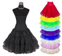 petticoat swing tutu groihandel-Multicolor Hot Sale 50er Jahre Retro Unterrock Swing Vintage Petticoat Fancy Net Rock Rockabilly Tutu Günstige Petticoat Röcke für Mädchen auf Lager