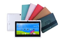 Wholesale red a13 tablet online - NEW inch Leather Case Cover stand holder and bandage for inch Tablet PC AllWinner A13 A23 A31S A20 Q88 EBOOK F PT