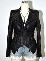 Wholesale Peplum Leather Jacket - 2016 sexy brand women's leather jackets plus size brand designer jackets XL 2XL 3XL 4XL 5XL 6XL