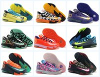 Wholesale Cheap Kd Vi - Cheap Basketball Shoes KD 6 VI What the Sports Shoes Basket Ball Boots Mens Trainer Kevin KD VI 6 Athletics Footwear Sneakers