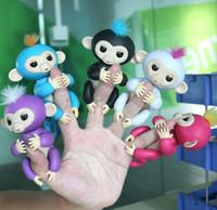Wholesale Stuffed Monkey Wholesale - 2017 Hot Fingerlings Baby Monkeys Funny Smart Induction Sensor Toys Sound Motion Touch Respond Fingerlings Monkey Toy Gift For Christmas