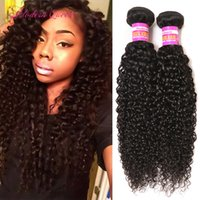 Cheveux Bouclés Et Lisses Pas Cher-Le brésilien Kinky cheveux bouclés cheveux tissent 2 Bundles Brazilian Kinky Curly Human Hair Wefts Beautiful Hair Extensions For Wedding Cheap Soft