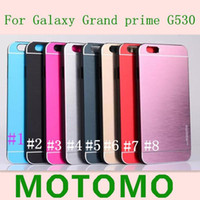 Wholesale Thin Metal Galaxy S3 - For Galaxy Grand prime G530 S3 S5 S4 case MOTOMO Ultra Thin Metal Aluminium Alloy Hard PC Case For Iphone 6