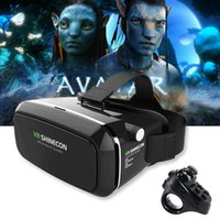 Original VR Shinecon Pro Schutzbrille Virtual Reality Mobile VR 3D Brille Headset BOX Pappe Helm für 4-6 'Smartphone + Steuerung
