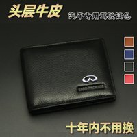 Wholesale Driving Wheel - Infiniti leather document bag document bag drive fit Infiniti qx60 q70l q50 qx70 qx80 q60 qx50 Leather License Bag Car styling