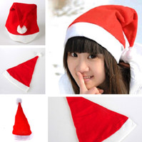 Wholesale kids santa costumes - Christmas Santa Hats Red And White Cap Party Hats For Santa Costume Christmas Decoration for kids adult Christmas Hat IC718