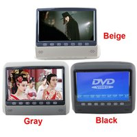 Wholesale 32 Bit Dvd Games - HD 9 Inch Car Headrest DVD Monitor Player With Mp4 Mp5 800*480 Screen Built-in Speaker USB SD 32 Bit Games IR FM Transmitter