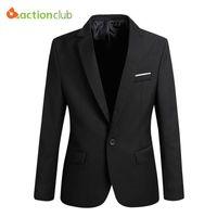 Wholesale Blazer S - Wholesale-New Arrival Men Suit Jacket Casaco Terno Masculino Blazer Cardigan Jaqueta Wedding Suits Jacket Men Size S-6XL Super Plus Size