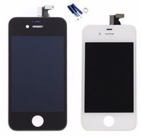 Wholesale Digitizer For 4s 4gs - White Black LCD For iPhone 4S 4GS Front Outer Glass Lens LCD Display Touch Screen Digitizer Assembly+Frame+Tools Free Shipping