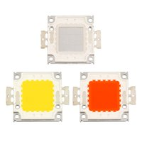 Wholesale 1 pc W High Power chips RGB degrees Beam Angel Super Bright High Power Integrated SMD LED Chips Flood Light Bulb