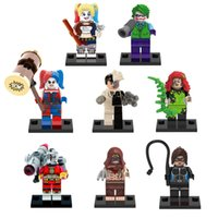 Wholesale Catwoman Action Figures - Building Blocks Super Heroes Badass Villain Suicide Squad Harley Quinn Ivy Catwoman Joker Action Bricks Children Gift Toys action figures