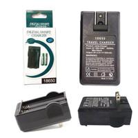 paquet de batterie li ion achat en gros de-18650 Chargeur de batterie Prise USB Double chargeur universel à double fente Chargement USB pour batterie Li-ion rechargeable avec emballage de vente au détail