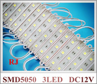 Wholesale Lighted Letters Wholesale - LED module light lamp SMD 5050 waterproof LED modules for sign letters LED back light SMD5050 3 led 0.72W 42lm DC12V IP65 free shipping