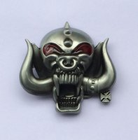 Wholesale Music Buckles - 3D Motorhead Long Horn Music Belt BuckleSW-BY238 suitable for 4cm wideth belt with continous stock