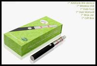 Wholesale Evod Starter Set Kit - ceramic donut herbwax vaporizer electronic cigarette kit ego evod wickless wax vaporizer pen wax smoking pen starter set