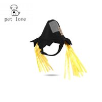 Wholesale Teddy Fabric Wholesale - 2017 pets love Pet Halloween hat cat accessories teddy dog classic Modeling fashion leads the tren scarecrow non-woven fabrics Pet navy suit