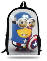 Wholesale Despicable Minion Inches - 16-inch Kids Backpack Boy Despicable Me Minions School Bags Children Girls Aged 7-13 Mochila Infantil Menino