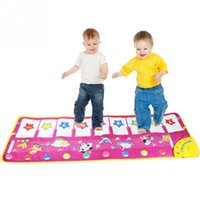 Barato Baby Learning Mats-Baby Kids Touch Play Aprenda Singing Piano Keyboard Music Carpet Mat Natal Gift Toy
