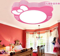 Wholesale Cats Ceiling - Kty cat cartoon children light fixtures white yellow light. Cartoon LED ceiling multicolor may choose. Girls Bedroom Lighting