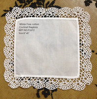"""Wholesale Shipping Garden Supplies - Free Shipping Home &Garden 60PCS lot New Venice lace Trim Style White Coton Cocktail Napkins 6""""X6""""Party Supplies makes guests feel welcome"""