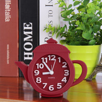 Wholesale Teapot Alarm Clock - 2016 Hot Cute Modern Novelty Personality Home Desk Decor Teapot Alarm Clock For Kid Present